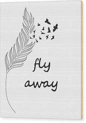Fly Away Wood Print by Jennifer Kimberly