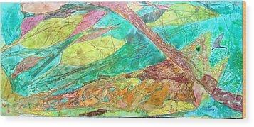 Fly Fishing  Wood Print by Isaac Alcantar