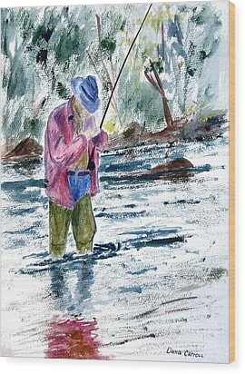 Fly Fishing The South Platte River Wood Print by Dana Carroll