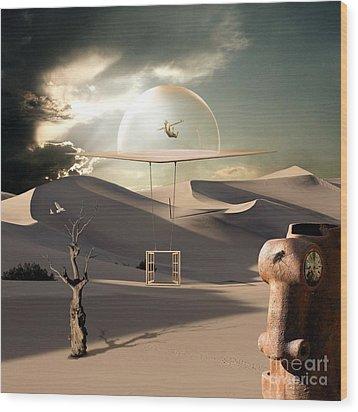 Fly Like An Eagle Wood Print by Franziskus Pfleghart