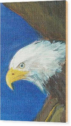 Wood Print featuring the painting Fly Like The Eagle by Jane  See