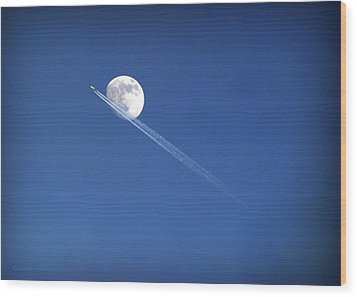 Fly Me To The Moon Wood Print by Cricket Hackmann