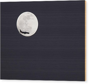Fly Me To The Moon Wood Print by Nathan Rupert