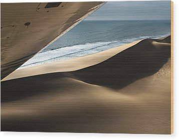 Wood Print featuring the photograph Fly Over The Namib by Juergen Klust