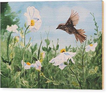 Flying Bird Wood Print