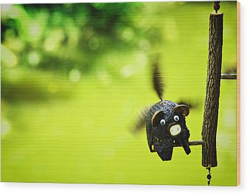 Flying Burin Wood Print by Suradej Chuephanich