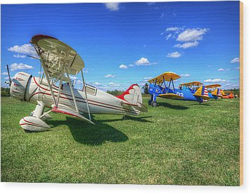 Wood Print featuring the photograph Flying Circus by Michael Donahue