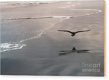 Flying Close To The Ground Wood Print by Gregory Dyer