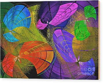 Flying Colors Wood Print by Gwyn Newcombe