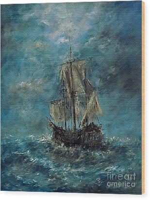 Flying Dutchman Wood Print