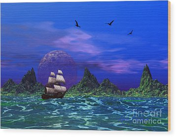 Wood Print featuring the photograph Flying Dutchman by Mark Blauhoefer