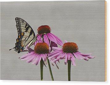 Flying Flower Wood Print