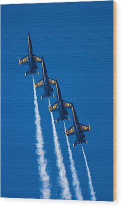 Flying High Wood Print by Adam Romanowicz