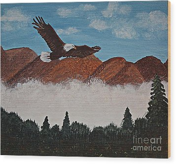 Flying High Wood Print by Barbara Griffin