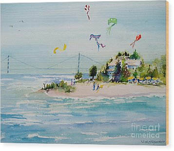 Flying High On Mackinac Island Wood Print by Sandra Strohschein
