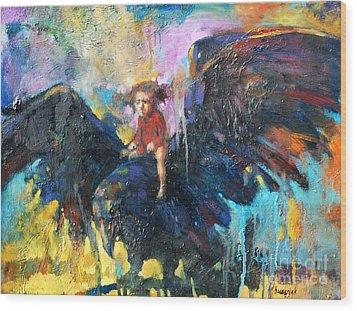 Flying In My Dreams Wood Print by Michal Kwarciak