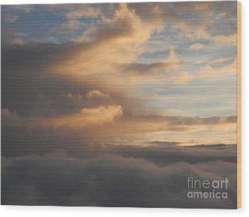 Flying Into Morning Wood Print by Margaret McDermott
