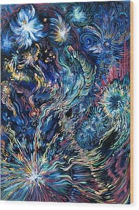 Flying Spirits Wood Print by Karen Nell McKean