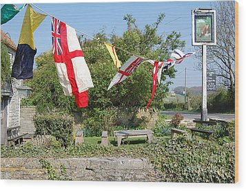 Wood Print featuring the photograph Flying The Flag For St George by Linda Prewer
