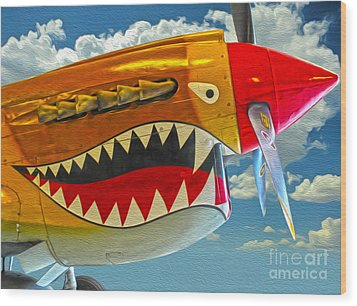 Flying Tiger Wood Print by Gregory Dyer