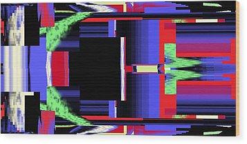 Fm Radio  Wood Print by Cletis Stump