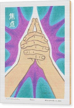 Focus - Mudra Mandala Wood Print