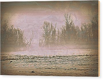 Fog Abstract 2 Wood Print by Marty Koch