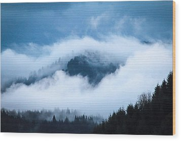 Fog After Storm Wood Print by Katie Wing Vigil