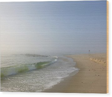 Fog And Blue Sky 2 Wood Print