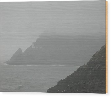 Fog At The Coast Wood Print by Yvette Pichette
