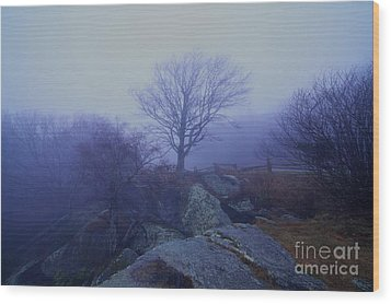 Fog Invasion Wood Print