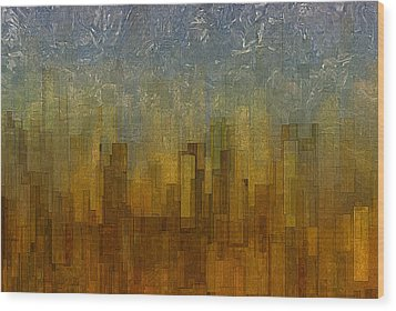 Fog Over Midtown Wood Print by Jack Zulli