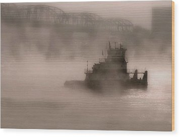 Fogbound Wood Print