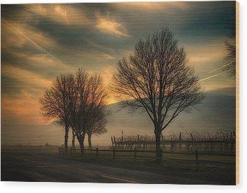 Foggy And Dreamy Wood Print