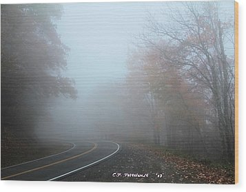 Foggy Autumn Day Wood Print by Carolyn Postelwait