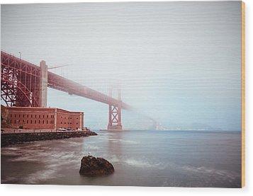 Wood Print featuring the photograph Foggy Bay by Brian Bonham