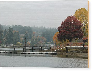 Wood Print featuring the photograph Foggy Day In October by E Faithe Lester