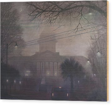 Foggy Dome Wood Print