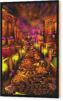 Foggy Dreams - Scratch Art Series - # 28 Wood Print by Steven Lebron Langston