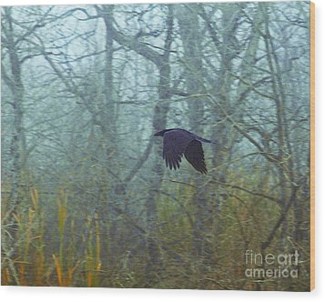 Foggy Flight Wood Print by Judy Wood