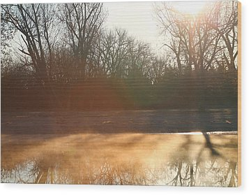 Wood Print featuring the photograph Foggy Morning by Alicia Knust