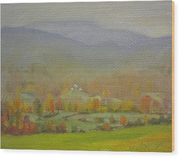 Foggy Morning Wood Print by Len Stomski