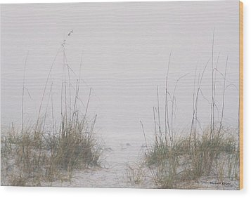 Wood Print featuring the photograph Foggy Morning by Michele Kaiser