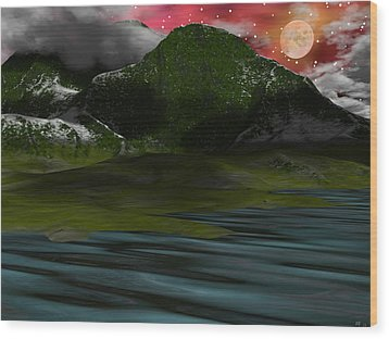 Foggy Mountain Dew Wood Print by Michele Wilson