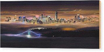 Foggy Night Wood Print by Alexis Birkill