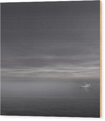 Foggy Stillness Wood Print by Lourry Legarde