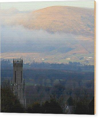 Foggy Wicklow  Mountains.  Wood Print by Joseph Doyle