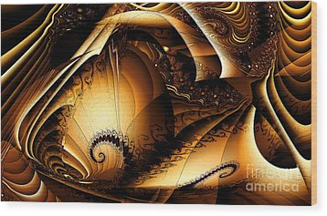 Folds In Time Wood Print by Peter R Nicholls