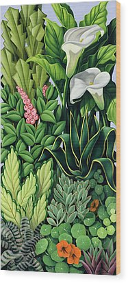 Foliage Wood Print by Catherine Abel