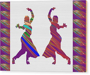 Wood Print featuring the photograph Folk Dance Sparkle Graphic Decorations by Navin Joshi